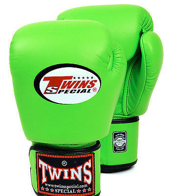 TWINS SPECIAL MUAY THAI BOXING GLOVES Green 8oz 10oz 12oz 14oz 16oz