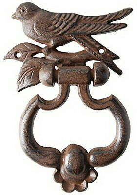 Vintage Antique Old Style Metal Cast Iron Bird Cottage Door Knocker Heavy Rustic