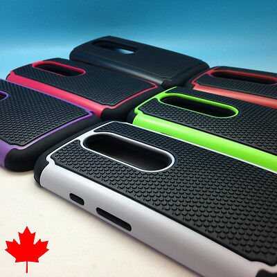 "Motorola Moto G 3rd Gen Hybrid Heavy Duty Armour Tough Cover Case 5.0"" Canada"