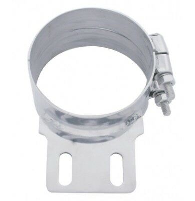 "exhaust 7"" butt joint clamp with straight bracket stainless for Peterbilt stacks"
