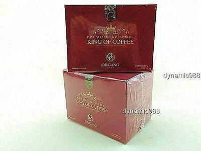NEW 2 x ORGANO GOLD PREMIUM GOURMET KING OF COFFEE W/ GANODERMA SPORE EXP-2018