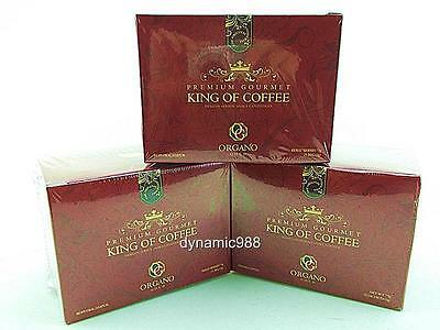 3 x NEW ORGANO GOLD PREMIUM GOURMET KING OF COFFEE W/ GANODERMA SPORE EXP-2018