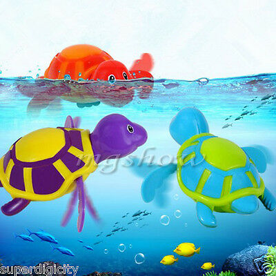 Wind up Swimming Turtle Animal Toy For Kids Baby Children Pool Bath Time