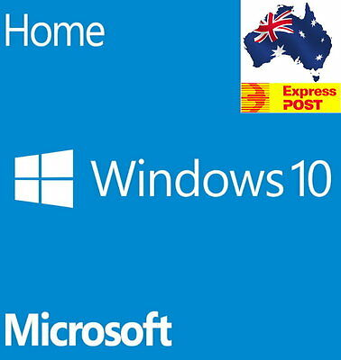 Microsoft Windows 10 Home Operating System 64-Bit Full Version with Disc