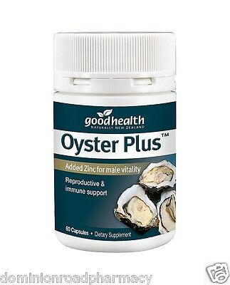 Good Health Oyster Plus 60 capsules Added Zinc for male vitality