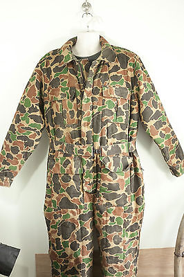 Large Camouflage Camo Cold Weather Insulated Deer Hunting Coveralls