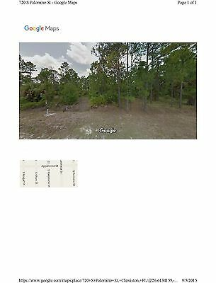 Florida - 1.25 Acre - Vacant Land - $127.00 / Month + Taxes.