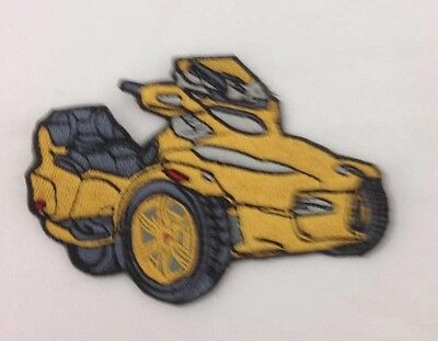 Can Am Spyder Motorcycles Patch Yellow Spyder RT Roadster Small
