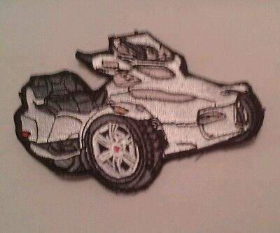 Can Am Spyder Motorcycles Patch White Spyder RT Roadster Small
