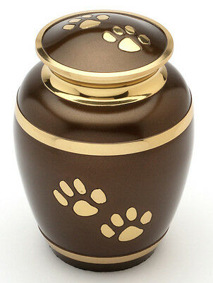 """Rochford Brown 8"""" Cremation Ashes Large Pet Urn UU500014A"""
