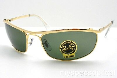 Ray Ban 3119 Olypian G15 New Authentic Buyer Picks Size 001 Gold Sunglasses