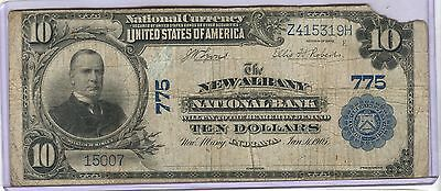 1902 Series Charter 775 The New Albany National Bank $10 Dollar Note