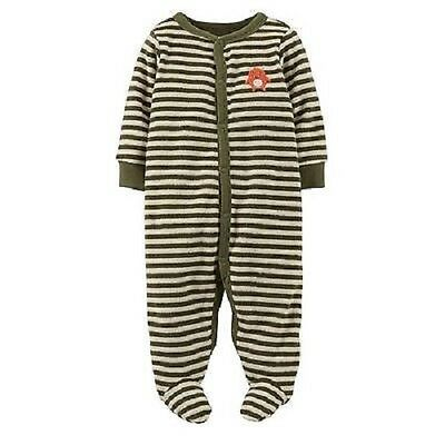 dad1d84e7a81 CARTER S INFANT BABY Boy 3 Months Olive Green Striped Sleeper ...