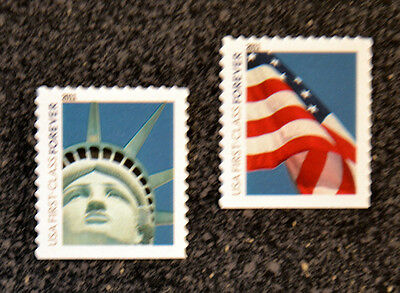 2011USA #4563-4564 Forever Lady Liberty & Flag Set of 2 Singles  (AVR)  Mint