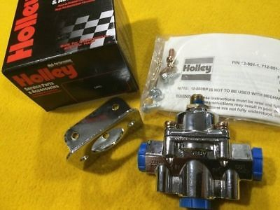 Adjustable 1-4 Psi Carby FUEL PRESSURE REGULATOR chrome 3/8 NPT Holley 12-804