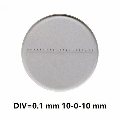 Microscope Eyepiece Micrometer Calibration Measuring Scale Ruler Reticle 0.1 mm