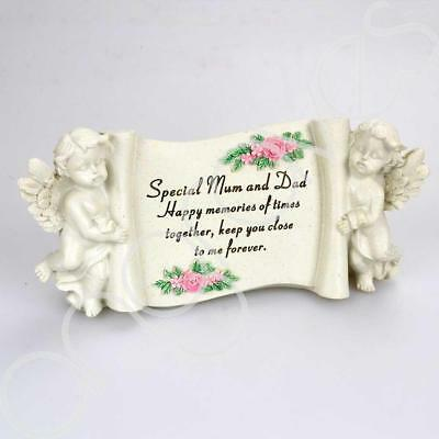 Special Mum & Dad Graveside Memorial Scroll Plaque Ornament Grave Tribute
