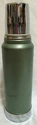 Vintage Stanley Aladdin 1 Quart Green Metal Thermos No. A-944C For Hot Or Cold