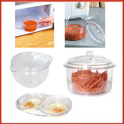 Pans Microwave Kitchen Cooking Egg Poacher Sauce Pan Steamers Non Staining Mould