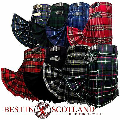 Scottish Kilt: Mens 5 Yard Casual Tartan Kilts Highland Dress, All Tartans/Sizes