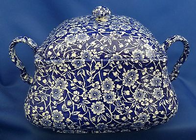 A Queen's 'calico Blue' Twin Handled Lidded Vegetable Tureen
