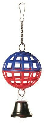Bird Toy Lattice Ball with Chain & Toy Bell Budgie Canary Toy Various Colours