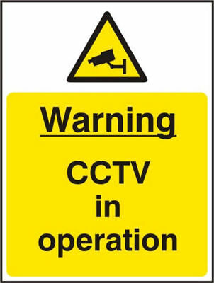 CCTV in Operation warning stickers Pack of 2 150x200mm A5 Sign