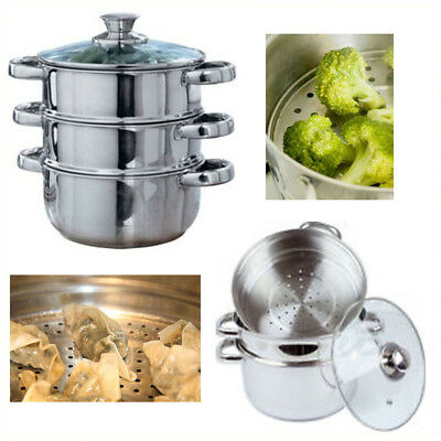 Steamer Vegetable Mesh Cooker Stainless Steel Rice Steam Pot Food Kitchen Basket