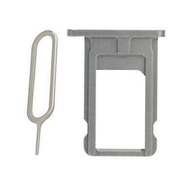 Silver Sim Tray Card Slot Holder Plate + Ejector Pin Part For iPhone 6 Plus
