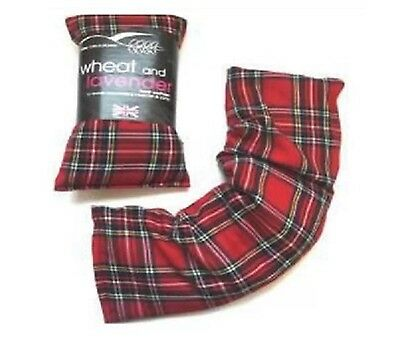 TARTAN Heat Cool Pack Microwaveable Freezable Lavender Wheat Bag Hot Bag New