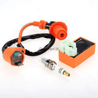 Racing Ignition Coil # Spark Plug # CDI GY6 50cc 125cc 150cc Scooter Modified