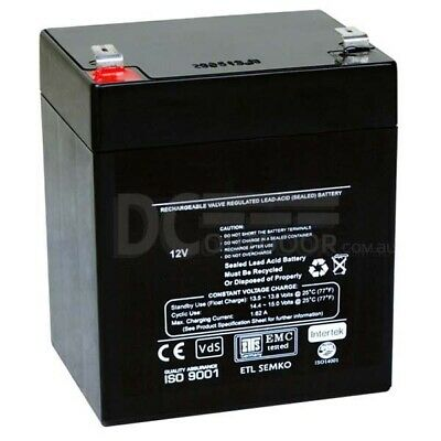 12V 5.4AH Battery / RECHARGEABLE Lead- acid battery - stand by, back up