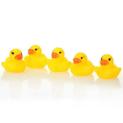Cute 1/5/10/20Pcs Yellow Baby Children Bath Toys Cute Rubber Squeaky Duck Ducky