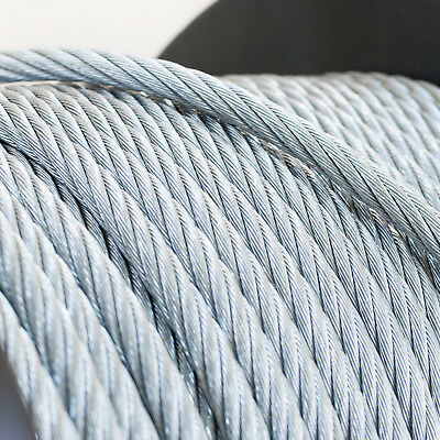 6x19 GALVANISED STEEL WIRE ROPE metal cable 4mm 5mm 6mm 8mm elastic soft strand