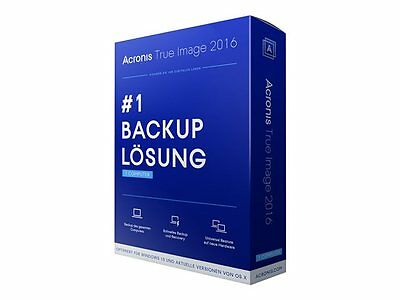 Acronis True Image 2016 for PC 1 User Digital Download License