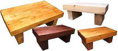 Handmade Solid chunky wood Pine Coffee Table, Lamp, Rustic, Crafted, Shabby chic
