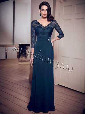 Custom Mother of the Bride Lace Dresses Formal Evening Wedding Party Bridal Gown