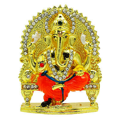 Lord Ganesha Statue Religious Car Dashboard Table Decor Office Decor CD1053A