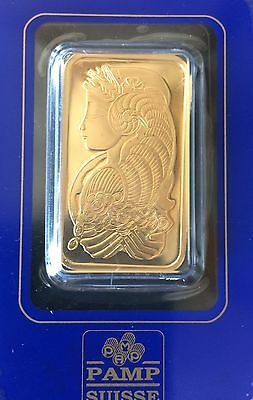 1 oz. Gold Bar PAMP Suisse Lady Fortuna .9999 Fine