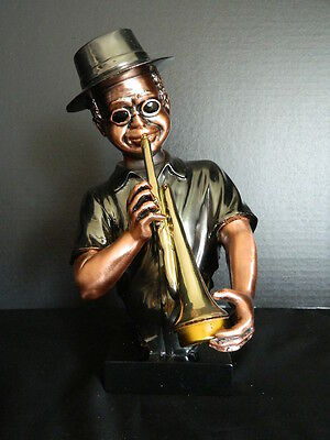 Jazz Trumpeter Trumpet Music Musician Player Figurine Sculpture Statue