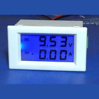 0-600V/50A DC Voltmeter Ammeter Digital LCD Panel Monitor VA Meter 12V/24V CAR