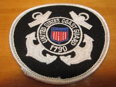 """United States Coast Guard 1790 3"""" Round Embroidered Iron-On Patch"""