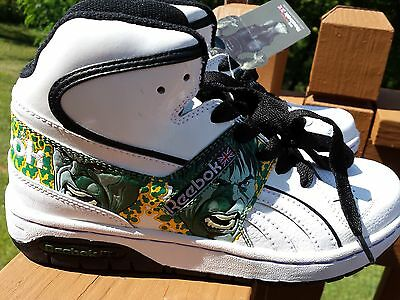 NEW REEBOK INCREDIBLE HULK hightop shoes men/kid size 4 1/2 Leather uppers