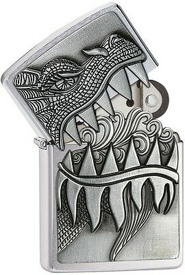 Zippo 28969 Dragon Teeth Brushed Chrome 2015/2016 Choice Catalog Lighter NEW