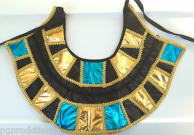 EGYPTIAN COLLAR Cleopatra King Tut Pharoah Adult Queen Necklace Cloth Neck Egypt