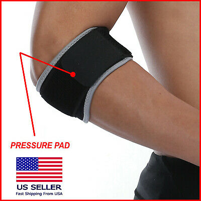 Tennis Elbow Brace Support Golfer Strap Epicondylitis Wrap Lateral Pain Large