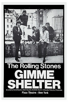 Mick Jagger & The Rolling Stones Gimme Shelter Plaza Theatre NY Poster 1970