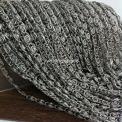 5/10M Stainless Steel Silver Chain Silver In Bulk For Jewelry Finding Wholesale