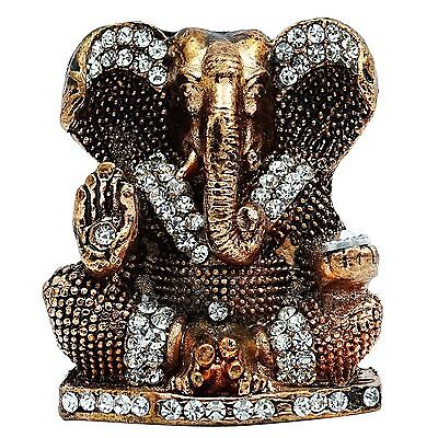 Lord Ganesha Brass Statue Car Dashboard Decorative Office Table Gift DecorCD339A