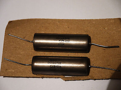 Pair Audiophile Capacitors K40Y9 0.47uF 400V NEW Paper in oil